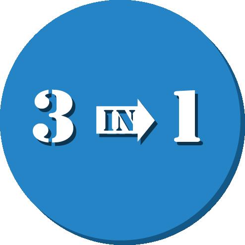 blue 3 in 1 diagram